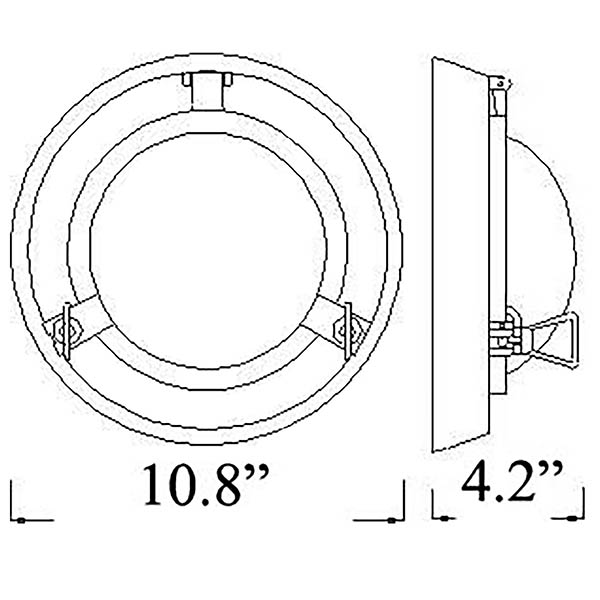 R-4 Porthole Sconce Diagram