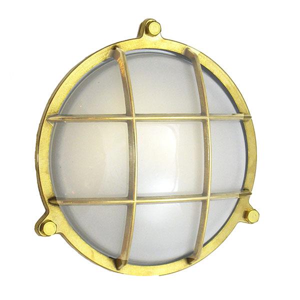 WF-4 Solid Brass Bulkhead Cage Light