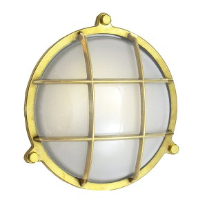 WF-4 Solid Brass Bulkhead Cage Light