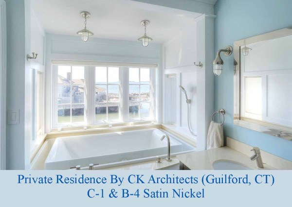 Nautical Satin Nickel Bathroom Lighting by Shiplights