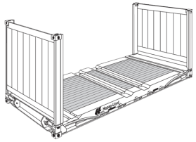 20' Flat Rack Container