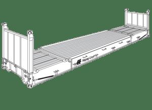 40' Flatrack Container