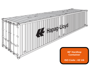 40' Open Top (Hard Top) Container