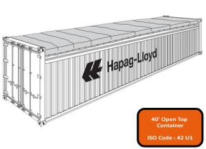 40' Open Top (Tarpaulin) Container