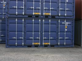 Container with doors on the side that can be used to load specific cargo
