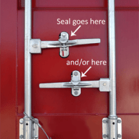 how to seal a shipping container and how many seals should a container have
