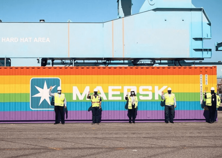 Maersk Rainbow container - inclusion and diversity - shipping and freight resource