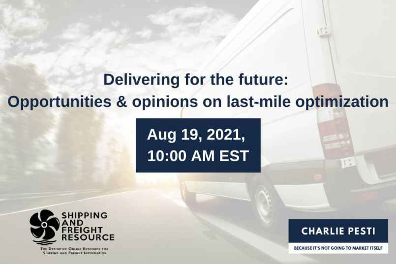 Webinar on Delivering for the future : opportunities and opinions on last-mile optimisation