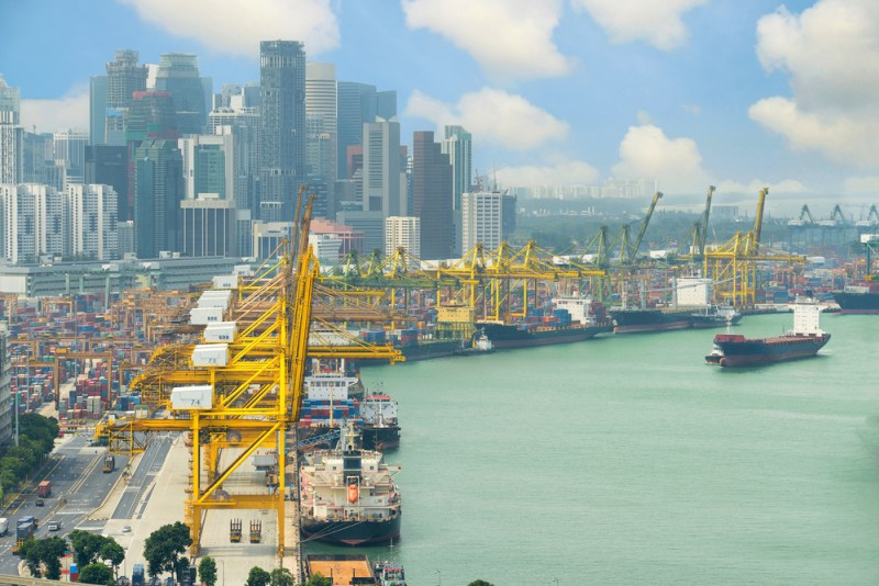 Image result for Singapore, containers, port, photos