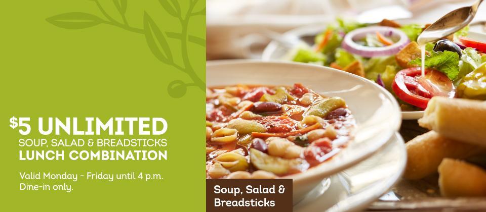 5 Unlimited Soup Salad Breadsticks At Olive Garden Restaurants Ship Saves