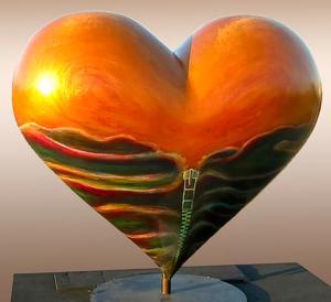 "Lori Kay ""Heart of San Francisco"" sculpture"