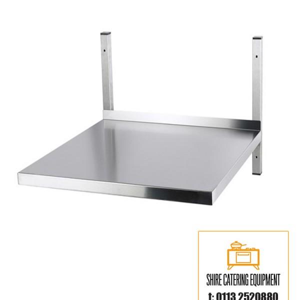 stainless steel microwave wall shelf 600mm