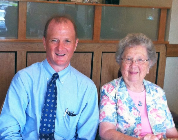 Jim and Elma Smucker at the Bird-in-Hand Restaurant