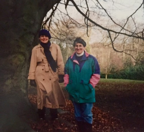 Shirley and Gloria just after witnessing those amazing clouds, 1996.