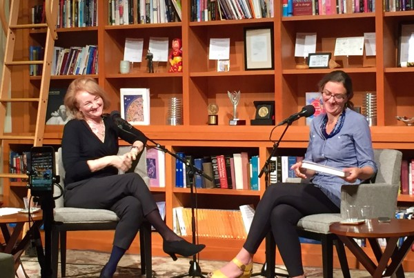 Krista Tippett and Courtney Martin in the On Being Studio, Loring Park.