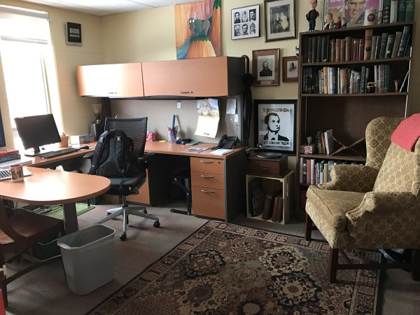 My temporary home in Professor Mark Sawin's office.