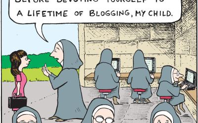 A Cartoon With Uncanny Accuracy: Predicting the Winding Blog Path
