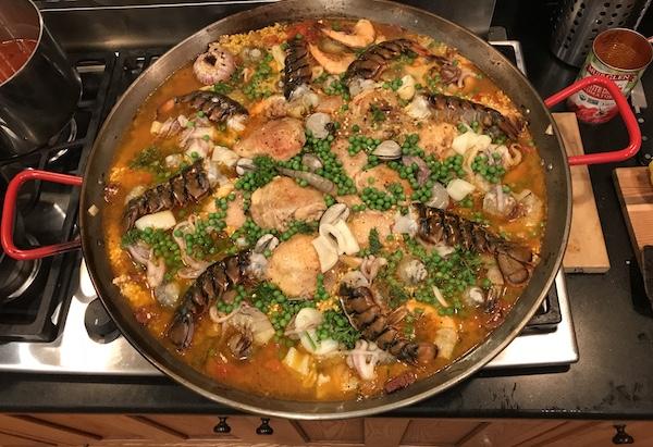 Anthony's paella.