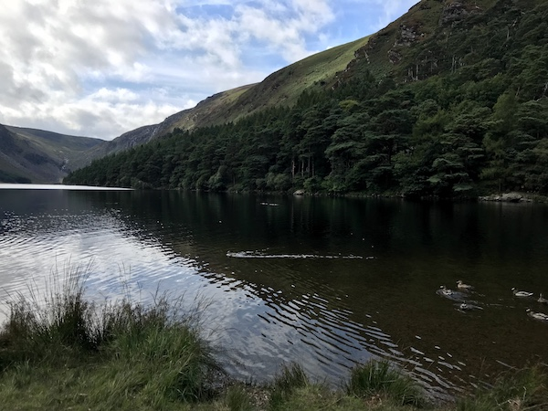 One of the two lakes at beautiful Glendalough.