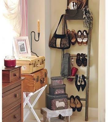 סולם לאחסון נעליים