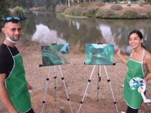 סדנת ציור לזוגות בפארק