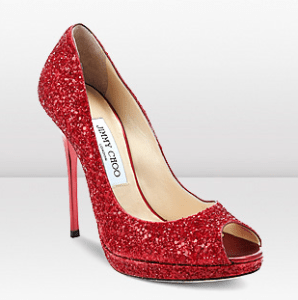 Jimmy Choo Quiet Red Coarse Glitter