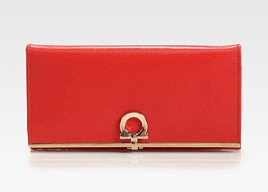 Buy Salvatore Ferragamo Gancini Icona Continental Wallet