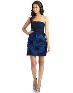 Buy BCBG MAXAZRIA – Woven Strapless Dress