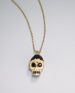 Buy Alexander McQueen – Golden Skull Pendant Necklace from Neiman Marcus