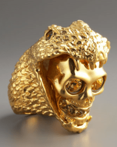Buy Alexander McQueen – Golden Snake & Skull Ring from Neiman Marcus