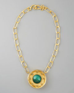 Buy Stephanie Anne – Malachite Pendant Necklace  from Neiman Marcus
