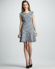 Rebecca Taylor – Frayed Fit-and-Flare Dress