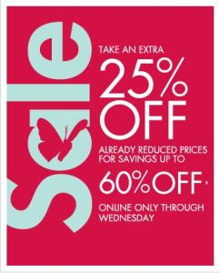 Neiman Marcus Extra 25% off on already reduced items