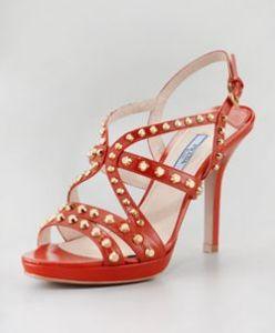 Buy Prada Studded Slingback Sandal from Neiman Marcus