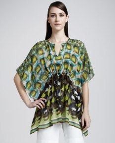 Lafayette 148 New York Galia Print Top