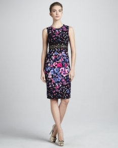 Versace – Cutout-Waist Floral Dress