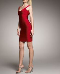 Herve Leger – Scoop-Neck Bandage Dress