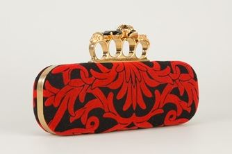 Alexander McQueen Red and Blue Knucklebox Cluth