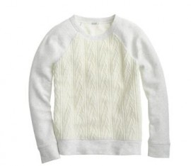 JCrew Cable Sweatshirt