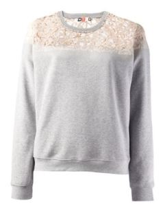 MSGM Lace Panel Sweater