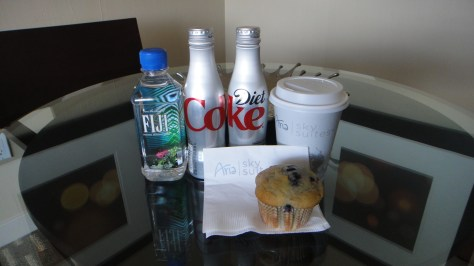 Aria Sky Suites Complimentary Refreshments