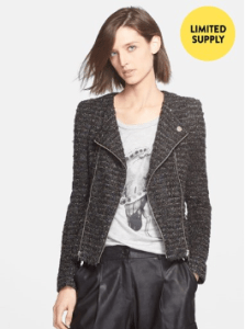 Mcginn Carly Metallic Tweed Moto Jacket