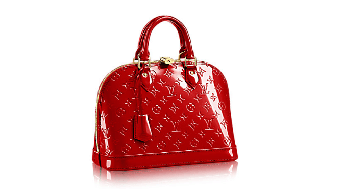 ee80871168cf The New Louis Vuitton Alma PM in Cerise Red