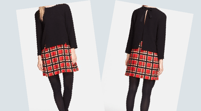 The Marc by Marc Jacobs Layered-Effect Plaid-Skirt Dress