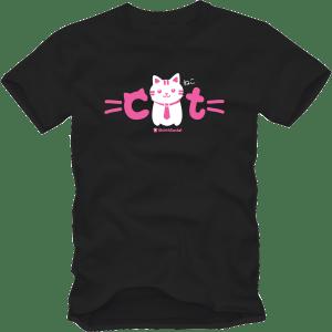 เสื้อยืดลายแมว CAT-10 สีดำ