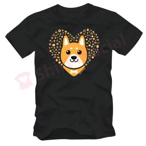 เสื้อยืดลายหมาน่ารัก สีดำ DOG-03