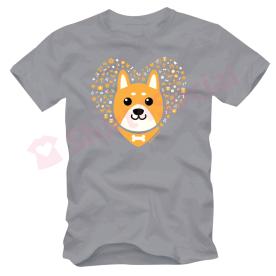 เสื้อยืดลายหมาน่ารัก สีเทา DOG-03