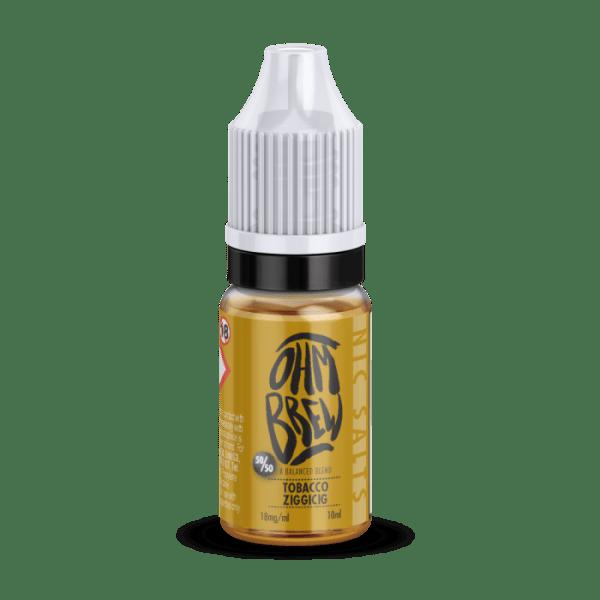 Ohm Brew Tobacco Ziggicig Nic Salt 10ml