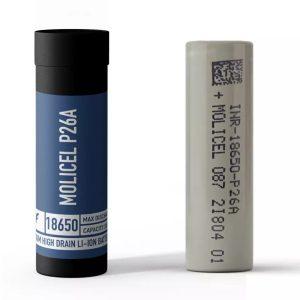 Molicel P26A - 2600mAh 18650 Battery