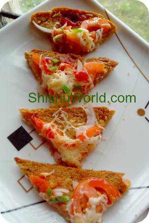 Easy snack for kids- bread pizza